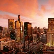 Sunset Skyline Chicago IL