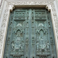 Ghiberti's door, the gates of paradise, Florence, Tuscany, Italy