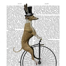 Greyhound on Black Penny Farthing Bike