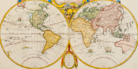 Antique Map Prints Image Antique And Candle VictimassistOrg - Large antique world map poster