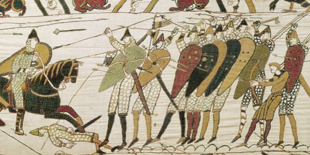 Bayeux Tapestry, detail of English army of King Edward III
