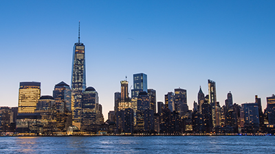 New York City Skyline in the Evening