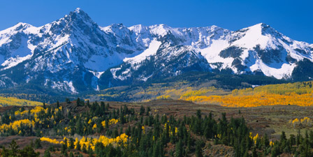 Mountains covered in snow, Sneffels Range, Colorado