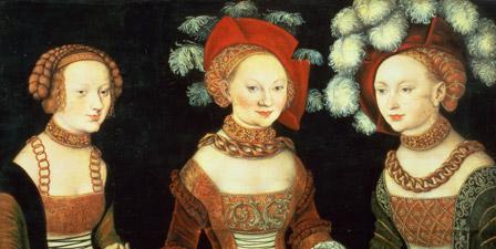 Three princesses of Saxony, Sibylla (1515-92), Emilia (15...