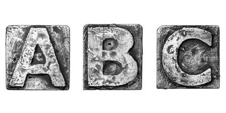 printing press letter art