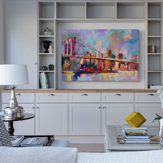 Colorful Abstract Art for Traditional Living Room Décor