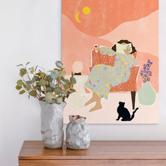Pop Art Print for a Traditional Entryway