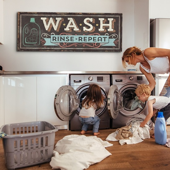 Large Typography Laundry Room Art Great Big Canvas
