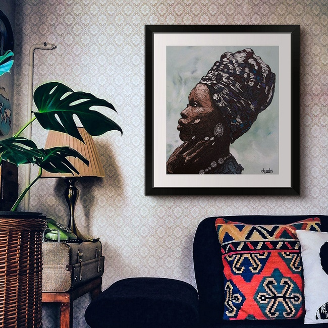 Contemporary Portrait Art for the Living Room