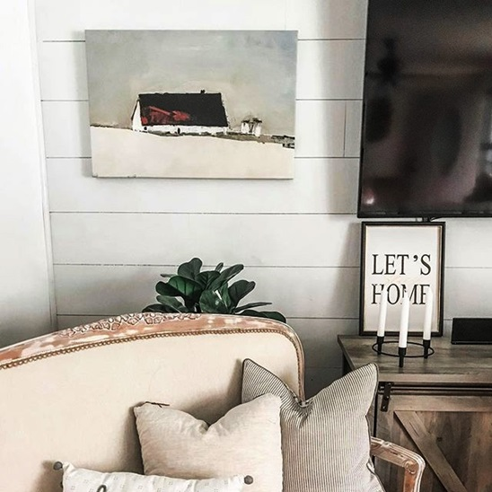 Large Rustic Wall Art In Modern Farmhouse Living Room Great Big Canvas