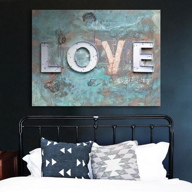 Industrial Typography Bedroom Wall Art