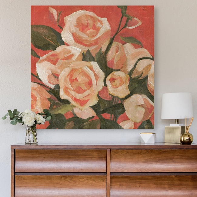 Bedroom Décor with Rose Art Print