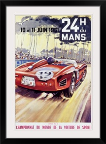 24 H du Mans, Championnat Du Monde, Vintage Poster