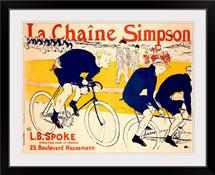La Chaine Simpson, L.B. Spoke, Bike Chains, Vintage Poster, by Henri de Toulouse Lautrec