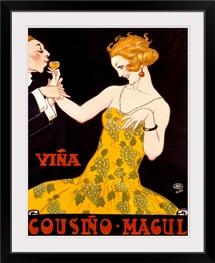 Vina Cousino Magul, Vintage Poster, by Rene Vincent