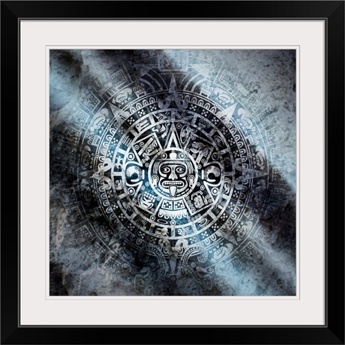 Mayan Calendar Carved In Stone Wall Art, Canvas Prints, Framed ...