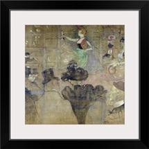 Dancing at the Moulin Rouge: La Goulue, 1895 (oil on canvas)