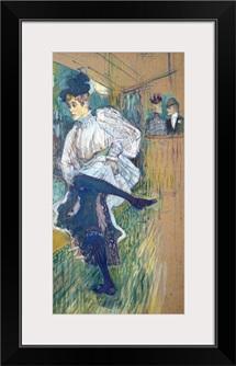 Jane Avril (1868 1943) Dancing, c.1892 (oil on card)