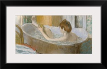 Woman in her Bath, Sponging her Leg, c.1883 (pastel on paper)