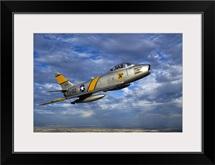 A F 86 Sabre jet in flight