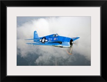 A Grumman F6F Hellcat fighter plane in flight