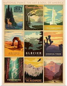 National Park Collection - Retro Travel Posters