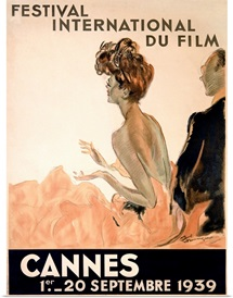 Festival International du Film, Cannes, Vintage Poster, by Jean Gabriel Domergue