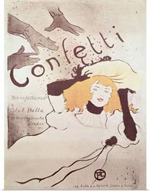 Confetti, 1893 (colour litho) (see also 84459)