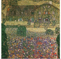 Country House by the Attersee, c.1914 (oil on canvas)
