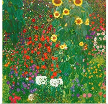 Farm Garden with Flowers (Brewery Garden at Litzlberg on the Attersee) c.1906