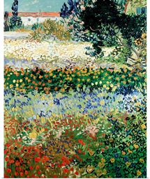 Garden in Bloom, Arles, 1888 (oil on canvas)