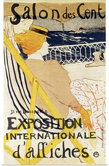 Poster advertising the Exposition Internationale dAffiches, Paris, c.1896 (colour litho)