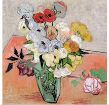Roses and Anemones, 1890 (oil on canvas)