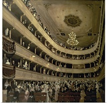 The Auditorium of the Old Castle Theatre, 1888 (oil on canvas)