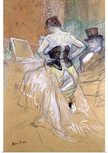 Woman at her Toilet, study for Elles, c.1896 (chalk and oil) (see also 36635)