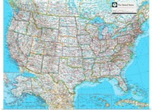 NGS Atlas of the World Eighth Ed. political map of the United States