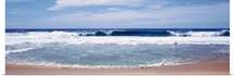 Waves crashing on the beach, Big Sur Coast, Pacific Ocean, California