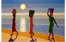 By the Beach, 2007 (oil on canvas)