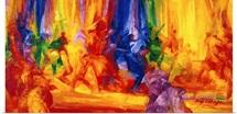 Dance 1, 2000 (oil on board)