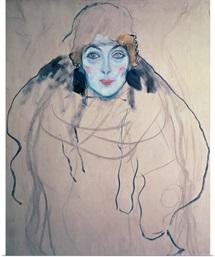 Head of a Woman (pen & ink & w/c on paper)