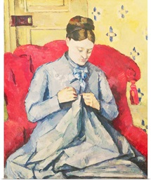Madame Cezanne sewing