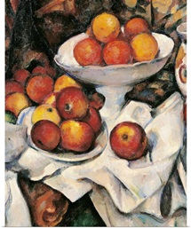 Apples and Oranges, by Paul Cezanne, 1895-1900.  Musee d'Orsay, Paris, France. Detail
