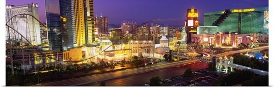High angle view of a city, Las Vegas, Nevada
