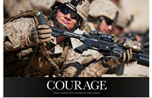 Military Motivational Poster: It takes an extraordinary person to face danger