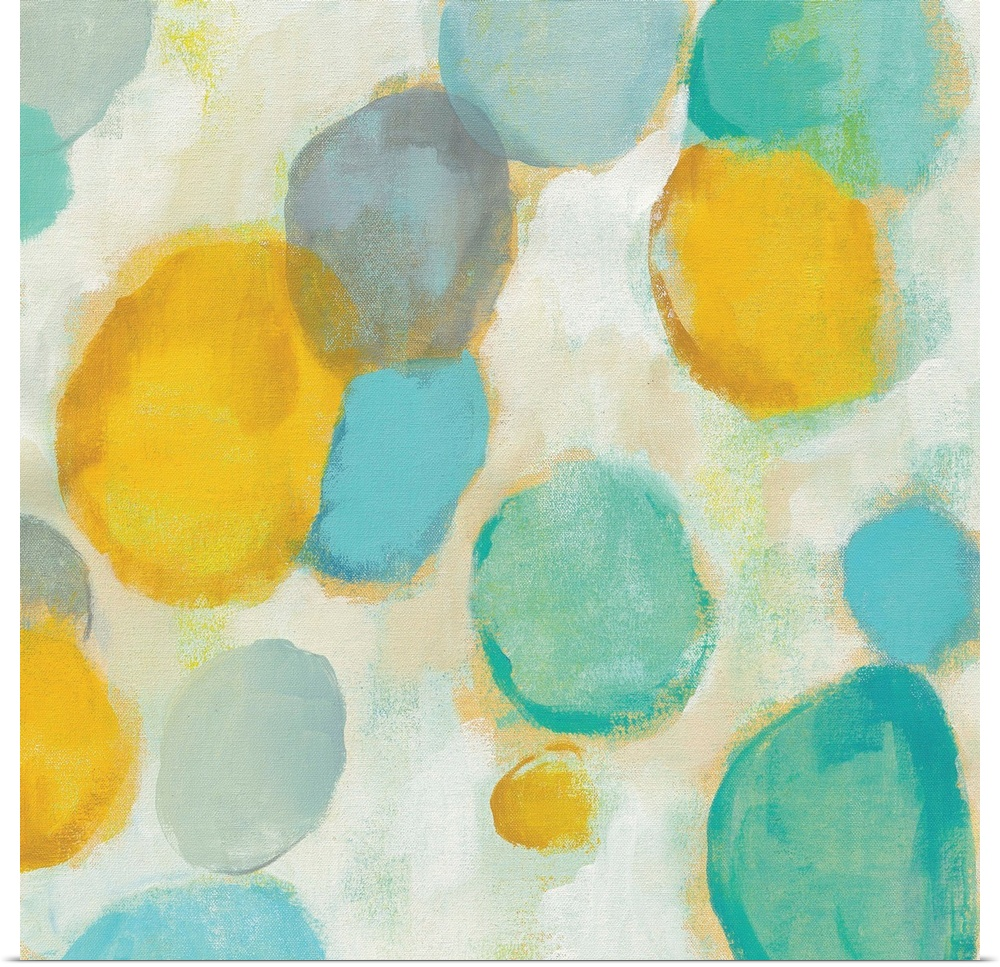 Poster Print Wall Art entitled Painted Pebbles II