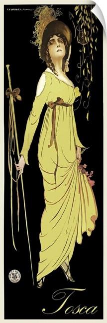 Tosca - Vintage Opera Advertisement