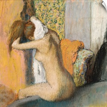 After the Bath, Woman Drying her Neck, 1898 (pastel on mounted paper)