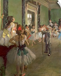 The Dancing Class, c.1873 76 (oil on canvas)