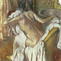 Woman drying herself, c.1888 92 (pastel)