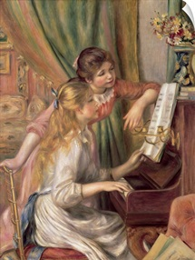 Young Girls at the Piano, 1892 (oil on canvas)
